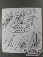 NEO女子プロレス 2008.4.5 滋賀大会 寄せ書き 【青コーナー】