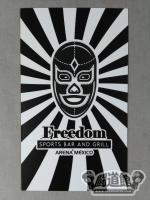 Freedom SPORTS BAR AND GRILL ARENA MEXICO カード