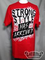 中邑真輔「STRONG STYLE HAS ARRIVED」Tシャツ(レッド)