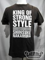 中邑真輔「KING OF STRONG STYLE」Tシャツ(黒)